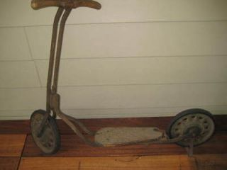 antique childs scooter early 1900 s superb condition time left