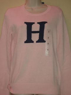 2012 Tommy Hilfiger Authentic Womens Sweater Longsleeve Crew Neck Pink