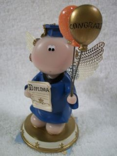 Angel Cheeks Congrats Graduate By Russ Berrie With Tag & Free Gift