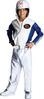 NEW Boys Cartoon Costume Speed Racer Jumpsuit and Helmet Medium 8