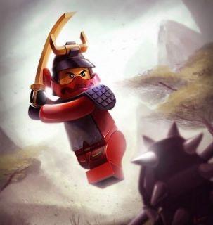 Lego Ninjago Red Ninja Face ~ Edible Image Icing Cake, CupcakeTopper