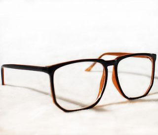 Big Black Frame Nerd Glasses : Cat Eye Clear Lenses Black Frame Womens Vintage Eyeglasses ...