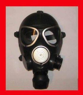Russian Soviet USSR Army Gas Mask Black Rubber GP 7 PMK.Surplus.HELMET