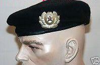 soviet russian army military uniform black beret cap hat