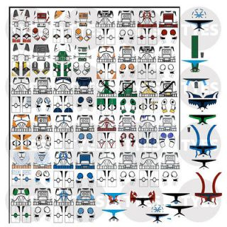STAR WARS CLONES CUSTOM DECAL STICKER SET TO FIT MINIFIGURES + LEGO