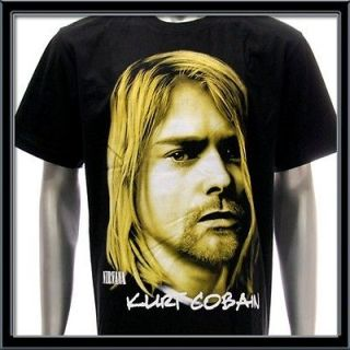 Sz L Nirvana Kurt Cobain T shirt Rock Tour 1967 1994 Concert Hard Tour