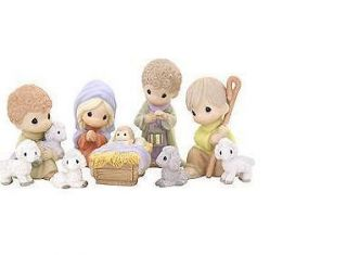 PRECIOUS MOMENTS~NATIVITY 9 PIECE SET~STANDARD SIZE~~NEW IN BOX~FREE