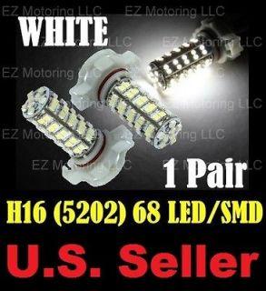 Xenon White 68 SMD H16 5202 LED Driving Fog Light Bulbs Chevy GMC