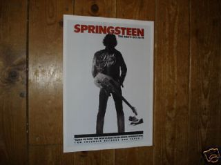 bruce springsteen roxy tour repro poster from united kingdom returns