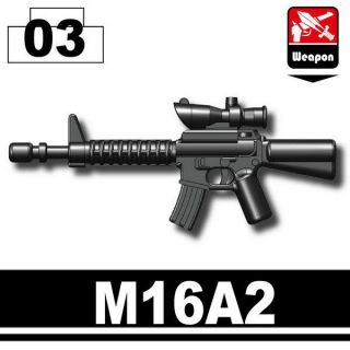 Assault rifle M16A2 gun compatible w/ minifigs swat police navy seal