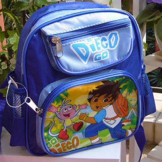 New Go Diego Blue Kids School Bag Backpacks Lovely Cute Gift For Kids