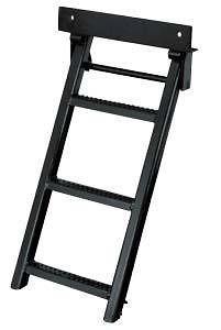 Truck, Trailer, Flat Bed Step, Ladder, 3 Rungs. Stainless Steel