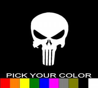 punisher skull 3 decal sticker vinyl car window laptop time