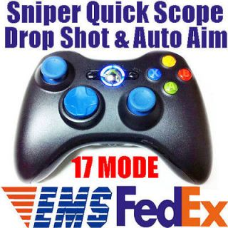 BLUE LED MW3 17 Mode Rapid Fire Modded Xbox 360 Controller Sniper