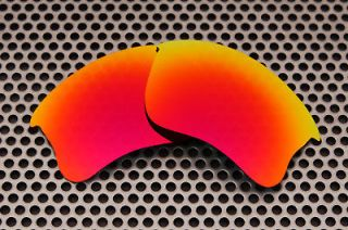 VL Polarized Fire Red Replacement Lenses For Oakley Flak Jacket XLJ