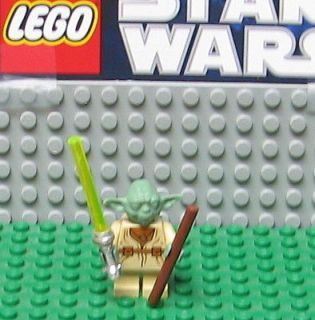 STAR WARS LEGO MINI FIGURE  MINIFIG    YODA  OLD SET    USED