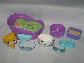 littlest pet shop cat dog magnetic figures bed part toys