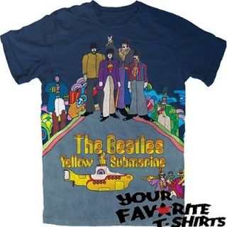 The Beatles Yellow Submarine Officially Licensed Adult Shirt S 2XL