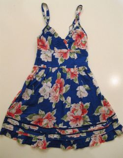 NWT Gilly Hicks Abercrombie Floral Flirty Summer/Spring Dress Blue X