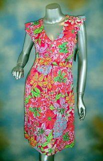 NEW $268 LILLY PULITZER Cherry Dress Azelea Pink Mini Mariposa silk