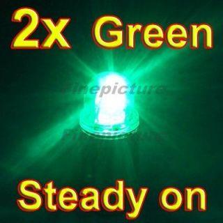 2x LED Wheel Cap Driving Light Battery Ultra bright Green for Car