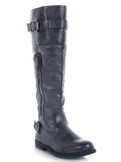 NEW MADDEN GIRL RICKKI Fashion Knee High faux Leather Buckle Biker