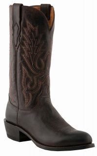 LUCCHESE M1002 CHOCOLATE BROWN MENS COWBOY BOOTS D (MEDIUM) R TOE / 4