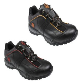 men s groundwork safety steel toe cap leather trainers more