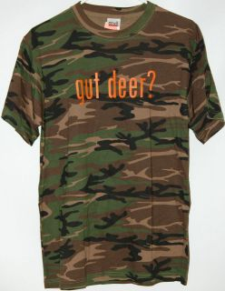 gut deer? camo T Shirt tee camouflage hunting deer hunt funny