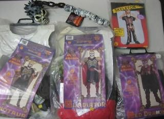 Lot of 5 Skull Warriors Costumes and 1 Accessory: Gladiator, Minotaur