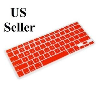Red Silicone Keyboard Skin Cover Case for Apple Mac Book Pro 13