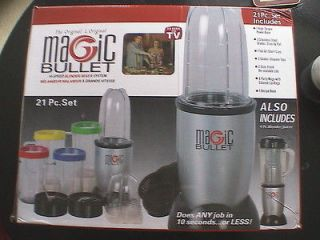 The Original Magic Bullet Hi Speed Blender/Mixer System 21 Pc Set New