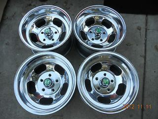JUST POLISHED 15x8.5 WESTERN SLOT MAG WHEELS TRUCK VAN MAGS 5 on 4 3/4