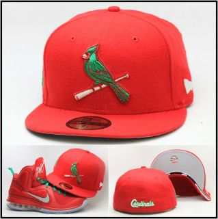 .Louis Cardinals Custom Fitted Hat Designed For Lebron 9 IX Christmas