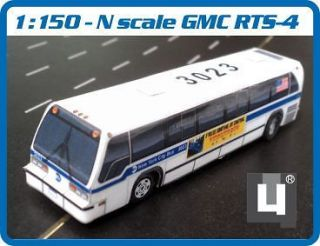 scale 1/150 GMC RTS MTA New York City Bus   Handmade Model