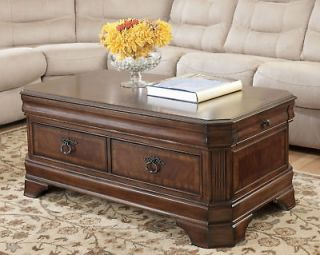 TRADITIONAL RECTANGULAR LIFT TOP COCKTAIL COFFEE TABLE FURNITURE