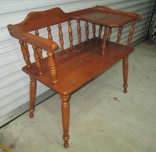 Ethan Allen Colonial Solid MapleTelephone Gossip Bench Beautiful