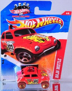 hot wheels baja beetle 2011 thrill racers jungle orange time
