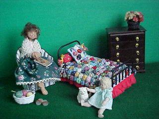 custom dollhouse miniature yo yo quilt kit 1 12 scale