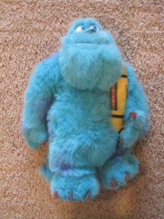 Monsters Inc plush Sully stuffed animal blue can of screams 17 inches