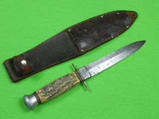 Vintage Old German Germany Solingen ANTON WINGEN Stiletto Stag