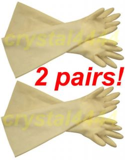 rubber glove long cuff 2 time left $ 13 99 buy it now liquid proof