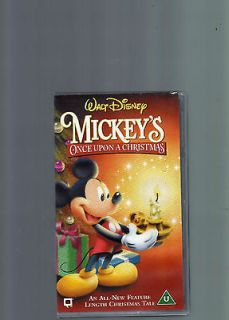 mickey s once upon a christmas walt disney vhs video  3 21