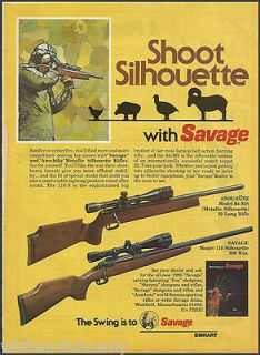 1980 SAVAGE Model 110 & ANSCHUTZ Model 64 MS Silhouette RIFLE AD