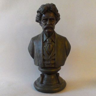 mark twain bust samuel clemens tom sawyer time left $