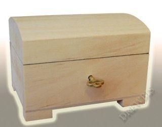 little natural wood wooden box hinged lockable psk1 time left