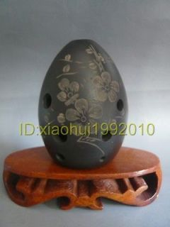 MUSICAL INSTRUMENTS Chinese Ancient musical instruments black pottery