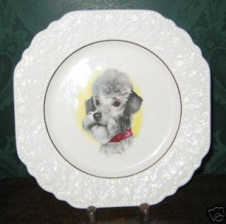 Dog Plate Lord Nelson Pottery Dog Lovers Bedlington Terrier Vintage