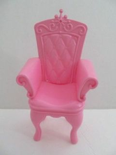 Mattel Barbie Doll Size Furniture Chair Palace/ Castle Throne