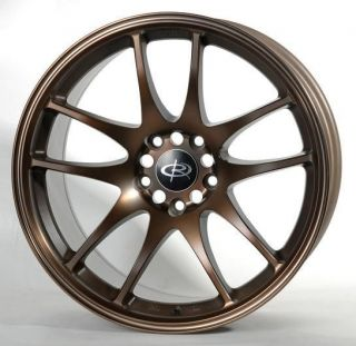 17 ROTA TORQUE BRONZE RIMS WHEELS 17x85 +48 5x114.3 MAZDA3 SPEED3